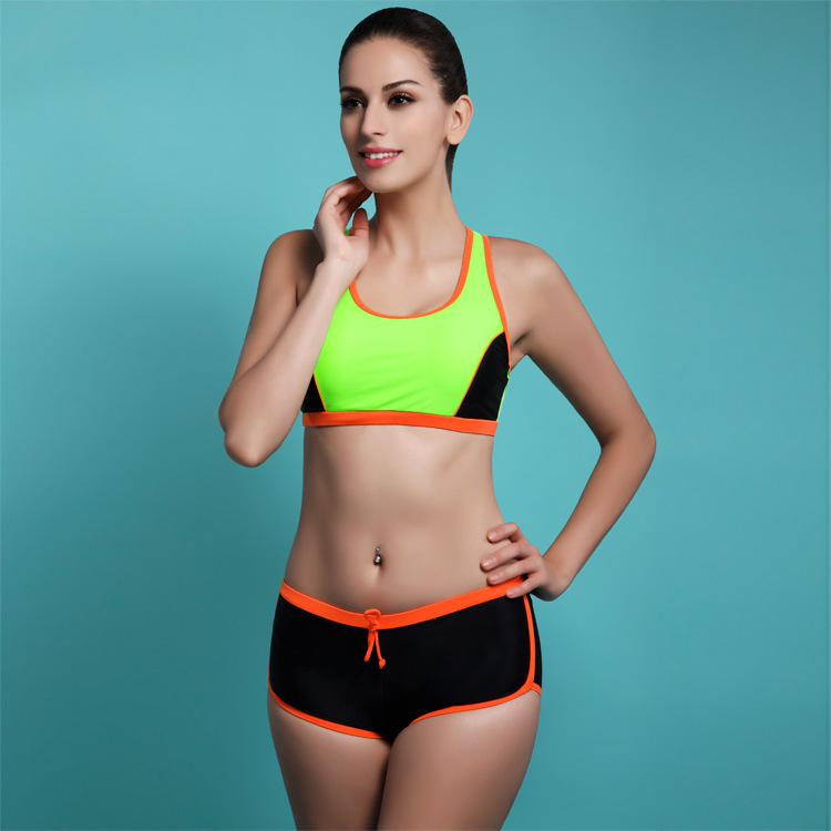 JAONIFER Women Sports Style Bikini Women's Swimwear Tank ...