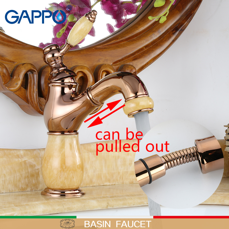 GAPPO basin Faucet pull out water taps bathroom sink tap toneira for bathroom wash faucets sink tap mixer bath faucet gappo brass bathroom basin faucet bath pull out tap cold and hot water mixer taps bath room sink faucets grifo lavabo g1209