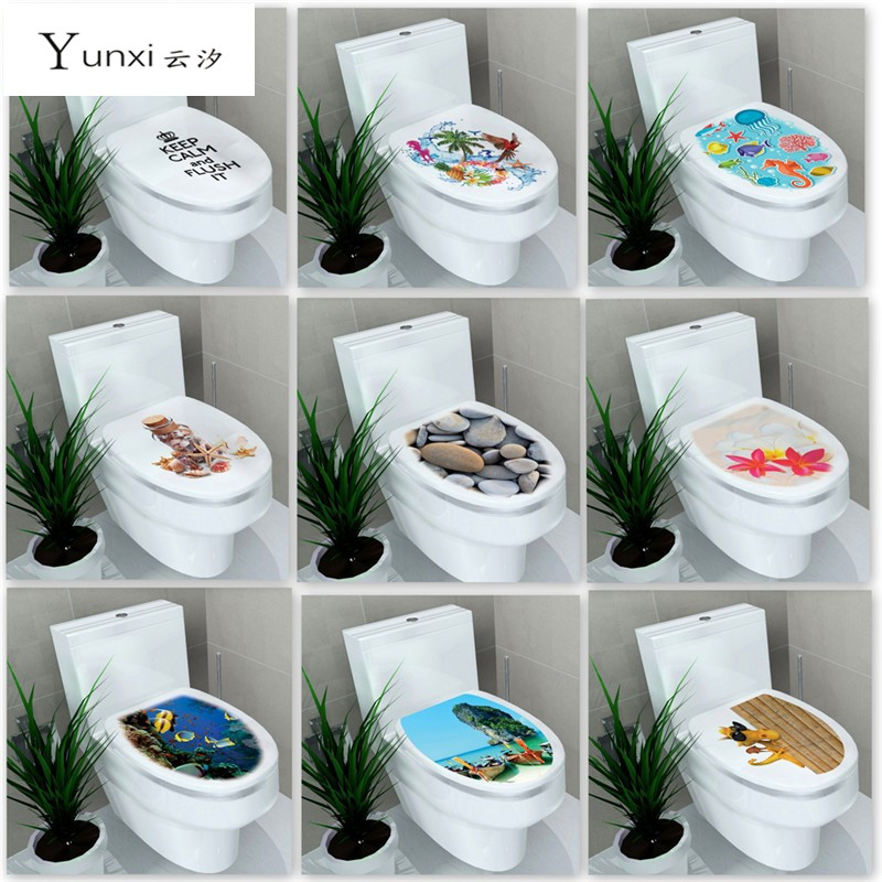 Wall Stickers Home Decor Diy Bathroom Toilet Stickers Waterproof Home Decoration Mural Adesivos De Paredes Swimming