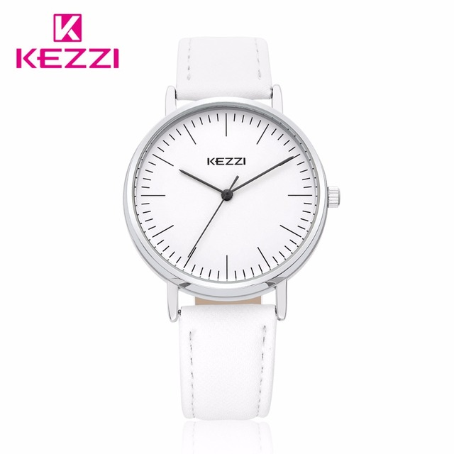 Free shipping Kezzi Brands Student Women Fashion Casual Watch K1528 Quartz Analog Leather Strsp Wristwatches Gifts Waterproof