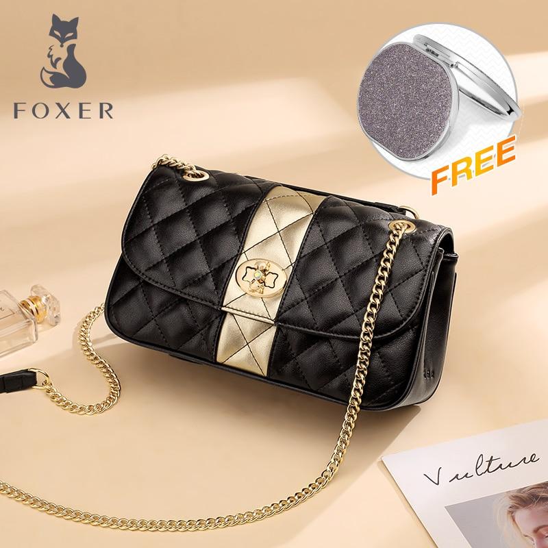 FOXER Brand 2019 Skin Office Lady Original Chic Flap Bag Female Fashion Small Crossbody Bag Woman