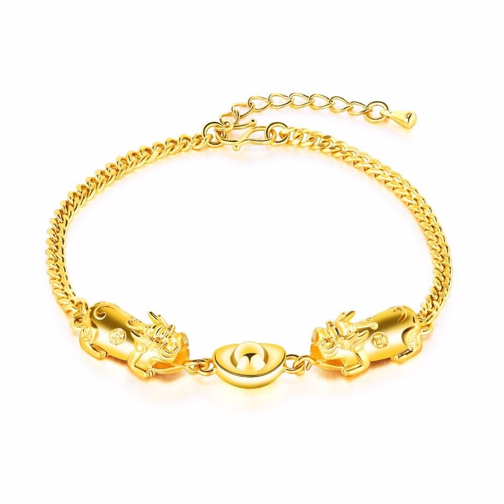Для женщин позолоченные ювелирные изделия оптом вьетнамский песок имитация золота браслет золотой браслет ks508