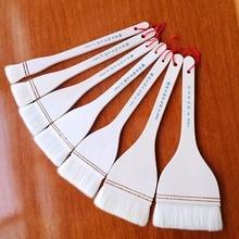 2pcs or 7pcs Wool watercolor brushes high quality long handle Watercolor Gouache paint big brush pen art supplies