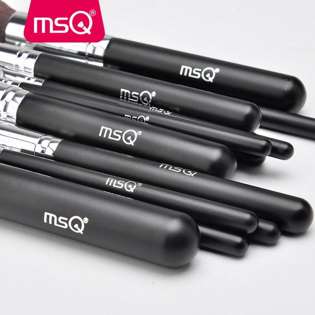 MSQ 4/15pcs Makeup Brushes Set Powder Foundation Eyeshadow Make Up Brush Kits Cosmetics Soft Synthetic Hair With PU Leather Case 3