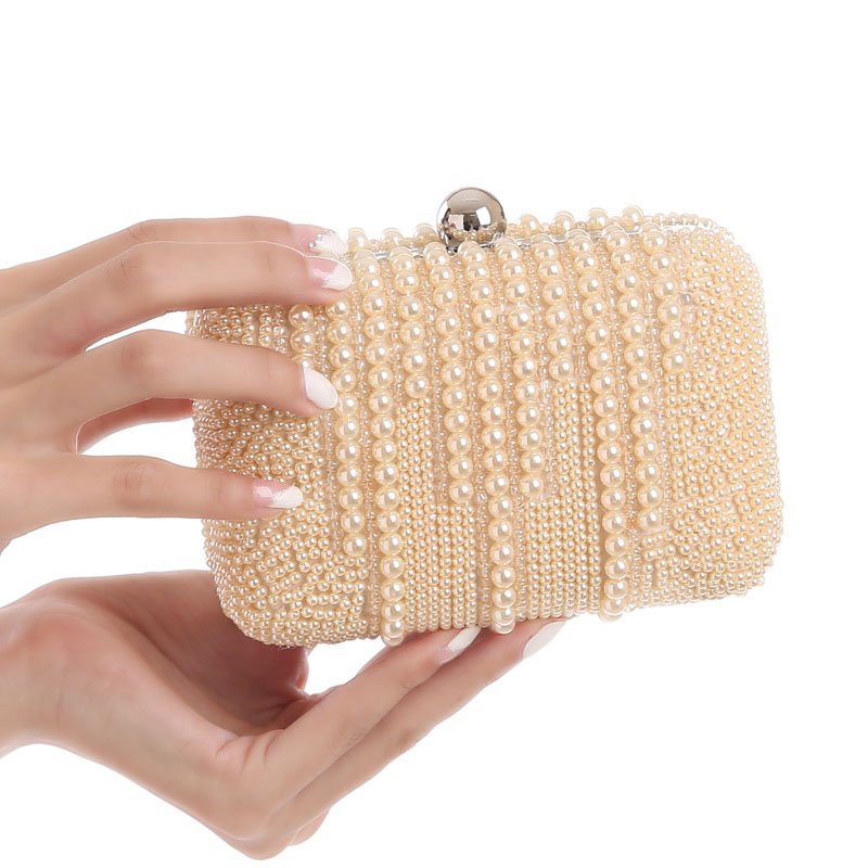 2017 Fashion Socialite Pearl Beading Evening Bag Bridal Wedding Party Clutch Purse Mini Chain Hand Bags Day Wallet bolso XA169H  luxury gold silver evening purse women pink pu leather pearl hand bag chain shoulder clutch bags handbag bolso handtassen xa841h