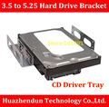 TOP SELL  CD Driver  Tray  Hard  Drive Tray   3.5 to 5.25  Hard Drive Bracket    Desktop SSD Conversion   HDD  Bracket  Caddy