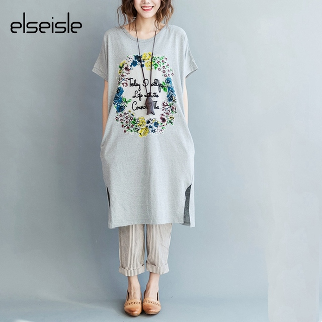 Elseisle 2017 New Women Print Vintage Dress Korean Style Summer