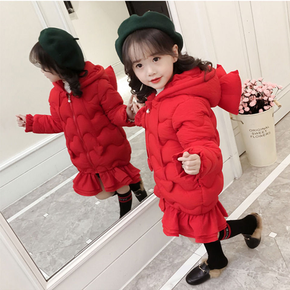 2018 Girls Down Jackets Baby Outdoor Warm Clothing Thick Coats Windproof Children\'s Winter Jackets Kids Cartoon Winter Outerwear
