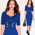 FEIBUSHI Women Sexy Vintage Patchwork Sleeveless Zipper Club wear Casual Pencil Office Bodycon Dress