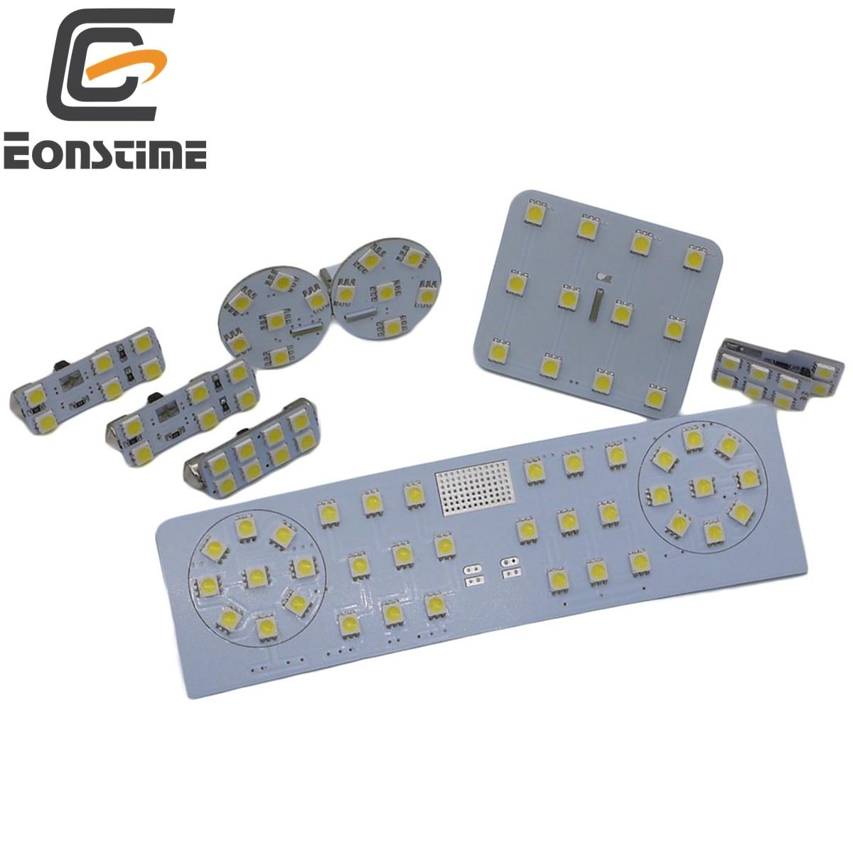 Eonstime 12V 8pcs set 5050 SMD LED Car font b Interior b font Reading Lights Case