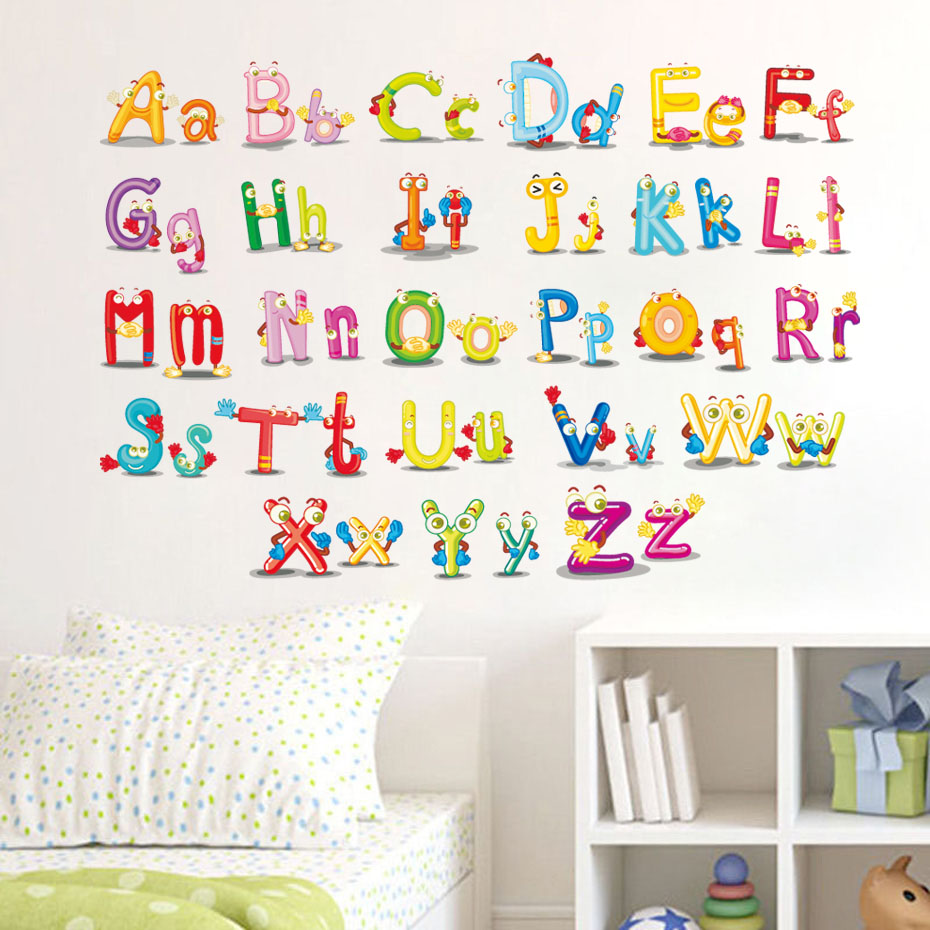 abc letters for wall abc alphabet wall stickers vinyl removable 16688