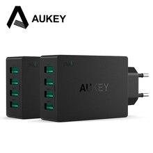 Aukey Adaptador Universal de Viaje Cargador de Pared de 4 Puertos USB Para el iphone Samsung Teléfonos Otros Teléfonos Inteligentes Dispositivos Móviles Con Conexión USB