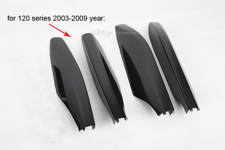 Image 4 - roof rack cover roof rail end for Toyota Land Cruiser PRADO 120 150 GRJ120 RZJ120 LC120 LC150 TRJ120 etc,good quality,2003 2018-in Nerf Bars & Running Boards from Automobiles & Motorcycles