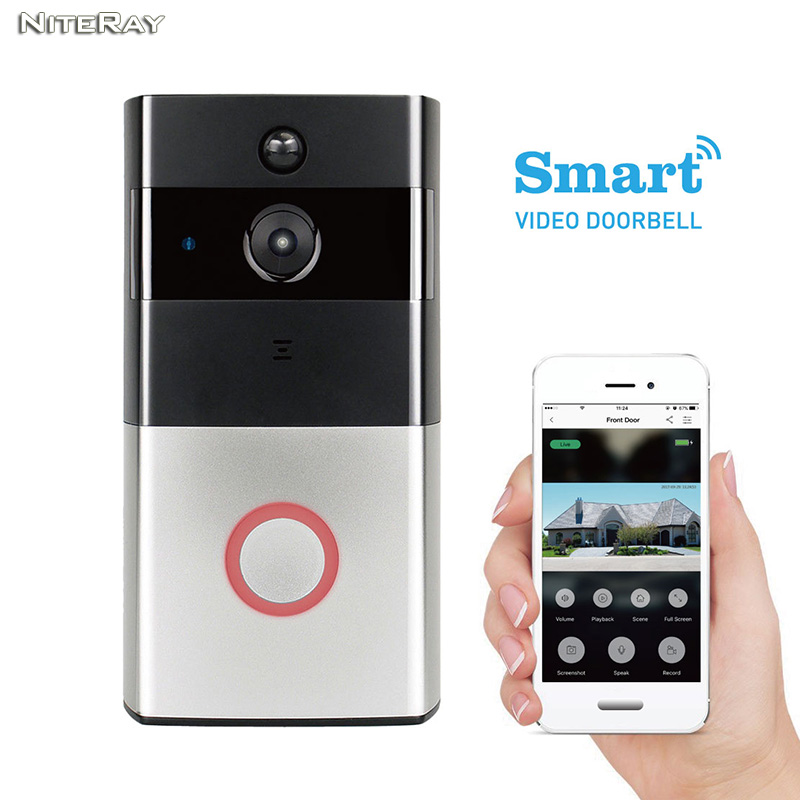 APP smart door bell wifi door viewer apartment house hidden door wireless camera sensor wireless door bell camera