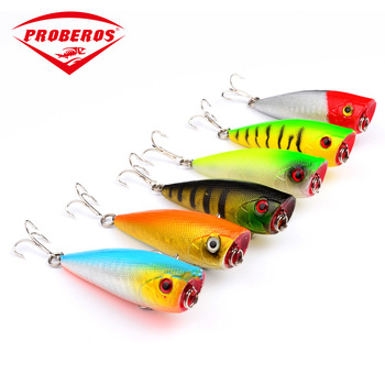 60mm/7g Trolling Fishing Wobbler Lure Popper Hard Bait ABS Material Floating Bait For Sea Fishing 8# Hook Artificial Bionic Lure 4pcs lot wobbler trolling bionic crankbait bait 70mm 9g floating sea fishing topwater 6 hook artificial jerkbait carp bass bait