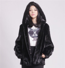 low low low 2015 winter new fashion real mink fur black mink import Finland short coat