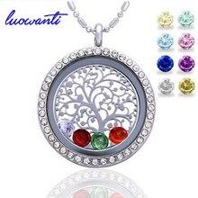 Luovanti 30 мм круглое магнитное закрытие плавающие медальоны живой памяти кулон ожерелье, все подвески включены
