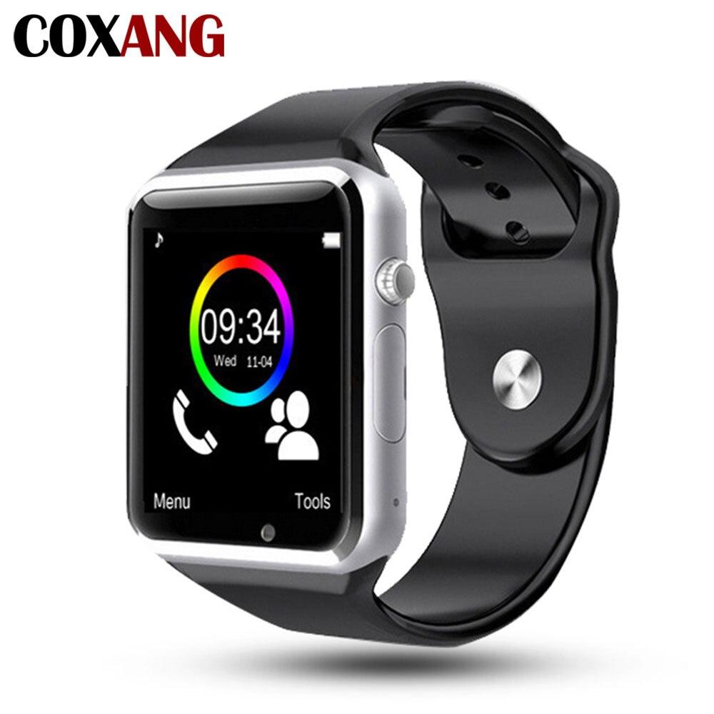 купить COXANG Smart Watch A1 Wristwatch Camera 2G SIM Card Dial Call Touch Screen Waterproof Sport A1 Smartwatch For Apple IOS Android по цене 792.85 рублей