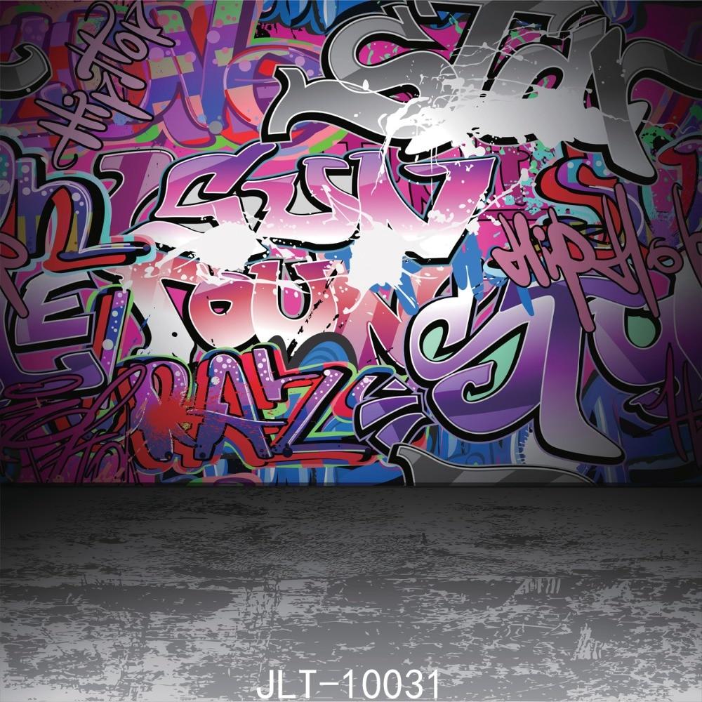 SJOLOON cartoon theme photo background chidren photography backdrops graffiti wall photo background for photo studio vinyl 8x8ft