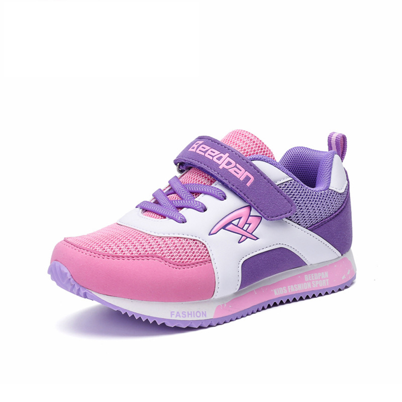2017 New girls shoes children casual shoes high quality mesh breathable sports causal sneakers for big boys kids comfort shoes