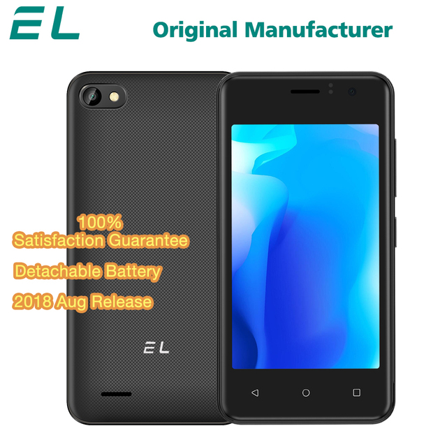 4.0 inch EL W40 Android 6.0 Cheap 3G WCDMA Mobile Phone 4GB ROM Dual SIM Unlocked Cell Phone Quad Core Original Touch Smartphone