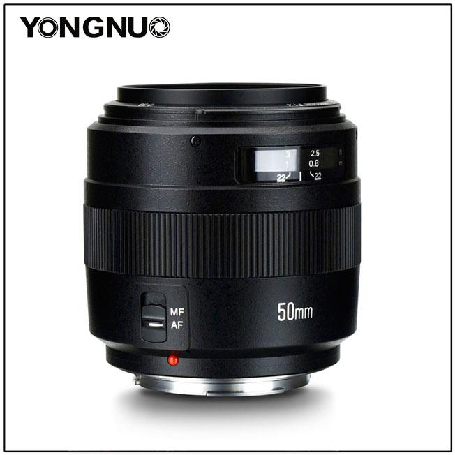 YONGNUO YN50mm Lentille F1.4N E Objectif Standard Premier F1.4 Grande Ouverture Auto Manuel Focus Lens pour Nikon Canon EOS 70D 5D2 5D3 600D