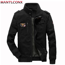 MANTLCONX Men's Spring Autumn Jacket Men Cotton Casual Jacket Mens Bomber Jackets And Coats Plus 6XL Army Air Force Bomber Male цена