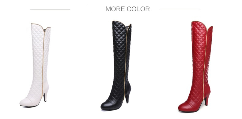 Long Boots Women Fashion Soft PU Leather Knee High Boots