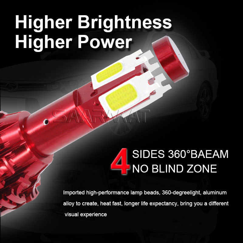 Pair 160W LED Headlight w/ COB Chips H4 9003 HB2 H7 H8 H9 H11 H16(JP) 9005 H10 HB3  9006 HB4 9008 H13 Car Headlamp Fog Light DRL