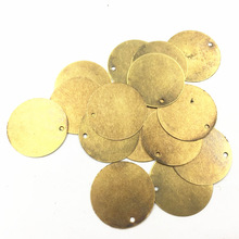 10Pcs Bag Decoration Ornament Filigree Wraps Bronze Tone Round Alloy Blank Stamping Tag Jewelry DIY Findings 20mm(6/8)