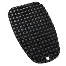 Pata de cabra Universal para motocicleta, placa de soporte lateral, almohadilla de soporte de pie de mimbre de plástico negro, Base de extensión antideslizante, 1 ud.