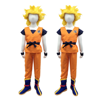 New Arrival Japanese Children's Halloween Anime Dragon Ball Z Monkey Goku Cosplay Costumes Boys Clothes Kids Party Costume S XL