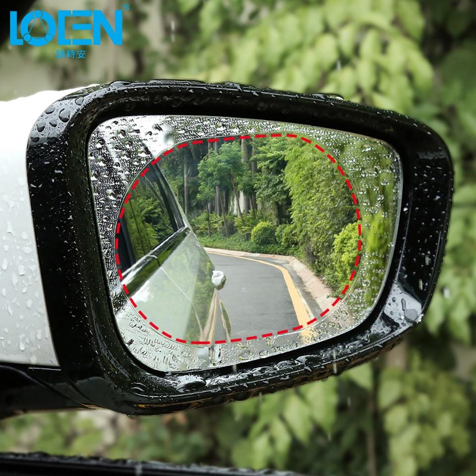 2Pieces Car Rainproof Rearview Mirror Film Sticker Car Mirror Window Clear Film Anti-glare Anti Fog Protective Car Sticker