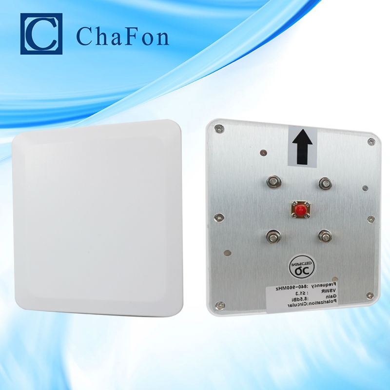 ФОТО RFID manufacturer circular polarization 6.5dBi ABS middle range rfid reader uhf antenna used for shopping malls