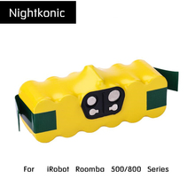Nightkonic 14.4V NI-MH 4500mAh Rechargeable  Battery pack For  iRobot Roomba 500 600 700 800 Series Vacuum Cleaner Yellow