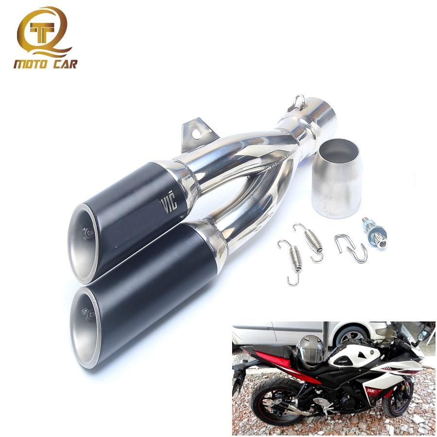 Motorcycle Exhaust 51MM DB Killer Pipe Exhaust For Yamaha R25 Kawasaki Z250 Escape CB400 CBR300 BN600 FZ400 Z750 YZF600 CBR190