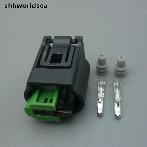 Shhworldsea 1sets 2 Pin Waterproof For BMW Outdoor Temperature Sensor Plug Auto Oxygen Sensor Plug Connector 1-967644-1 968405-1