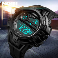 SKMEI Top Brand Luxury Luminous Mens   Watches   Military   Dual   Time Date Stopwatch   Watches   Men Waterproof LED Digital Sport   Watches