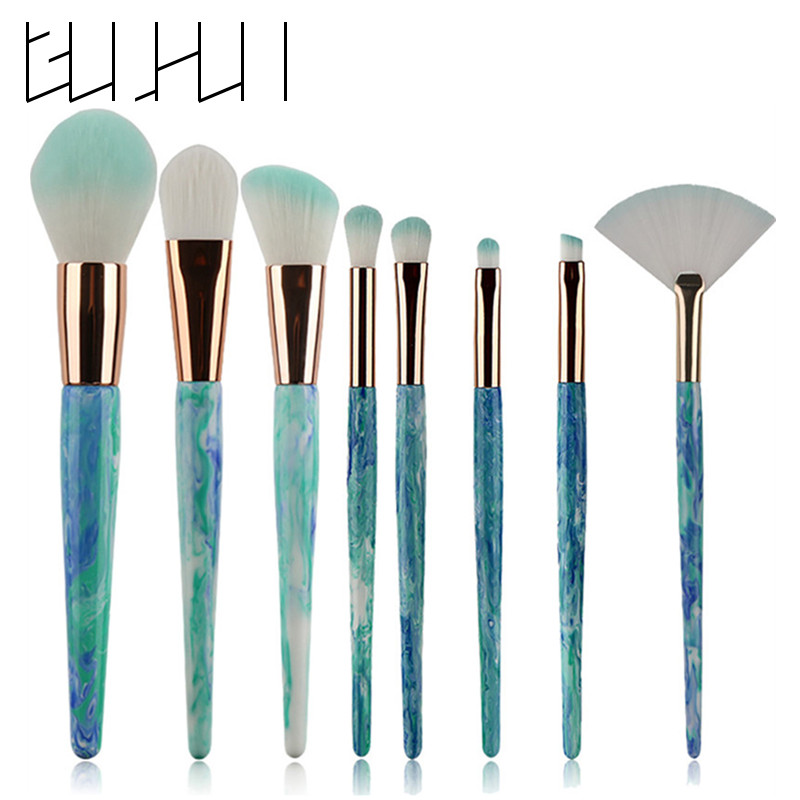 Professional Make Up Brush Set Contour Cosmetic Marble Makeup Brushes Concealer Foundation Powder Eye Shadow Eyebrow Lip Brush shoushoulang w211 professional makeup brush squirrel hair eye shadow brush ebony handle cosmetic tool eye shader make up brush