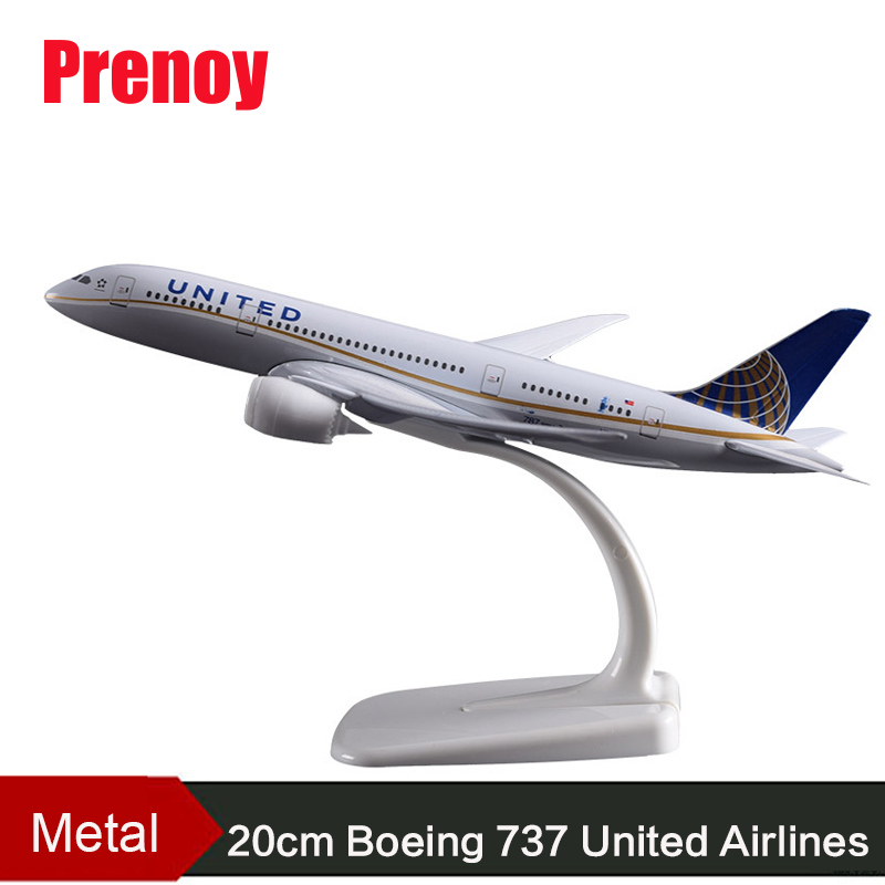 20cm B737 United Airplane Metal Aircraft Model America United State Boeing 737 Airbus Airway Model US Uinted Model Collection united boeing 777 200 hogan 1 200 united airlines n204ua aircraft model
