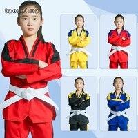 Taoyekma Professional Taekwondo Uniform for adult Children Teenagers Poomsae dobok colored tae kwon do clothes T118