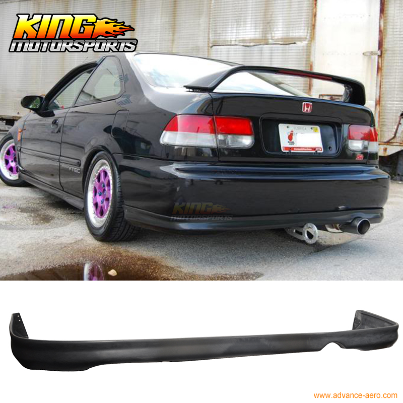 FOR 99 00 HONDA CIVIC REAR BUMPER LIP SPOILER BODYKIT POLY URETHANE PU fit 1992 1993 1994 1995 honda civic 2 3dr front bumper lip spoiler bodykit ww style urethane