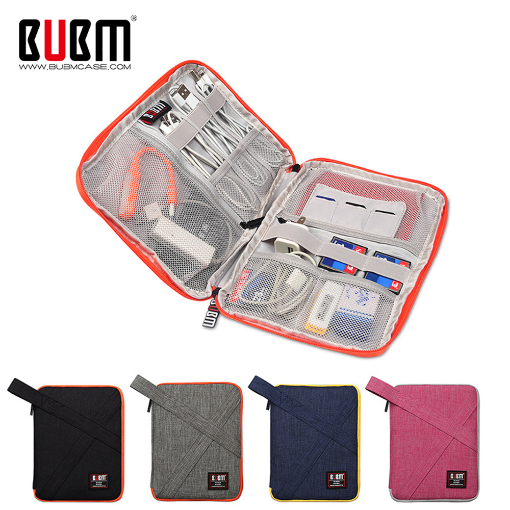 BUBM Travel Cable Bag, USB Charger Earphone Wire Hard Drive Case Gadget Bag For Power Bank, Data Cable, Phone, Fit For Ipad