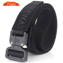 FRALU Camouflage Military Equipment Tactical Belt Men SWAT Combat Knock Off Army Belt Nylon Heavy Duty Paintball Waist Belt цена