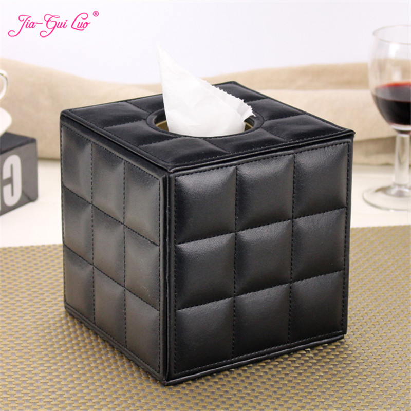 JIA-GUI LUO Leather Tissue Box Napkin Paper Tube Barrel Home Living Room Coffee Table Restaurant European Creative