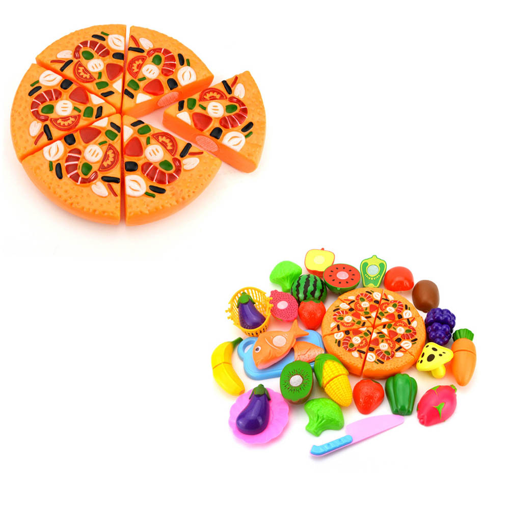Colorful Food Cut Vegetables Toy Fruit Food Toys For Girls Kitchen Pretend Play Set For Kids