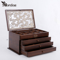 2016 Jewelry Box Necklace Rings Jewellery Container Boxes Makeup Case Jewelry Organizer Birthday Gift For Women