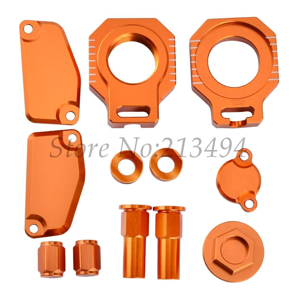 NICECNC Clutch Brake Reservoir Cover Plugs Axle block Nuts Caps For KTM SX85 2015-2017 FREERIDE 250R 350 2014-2017