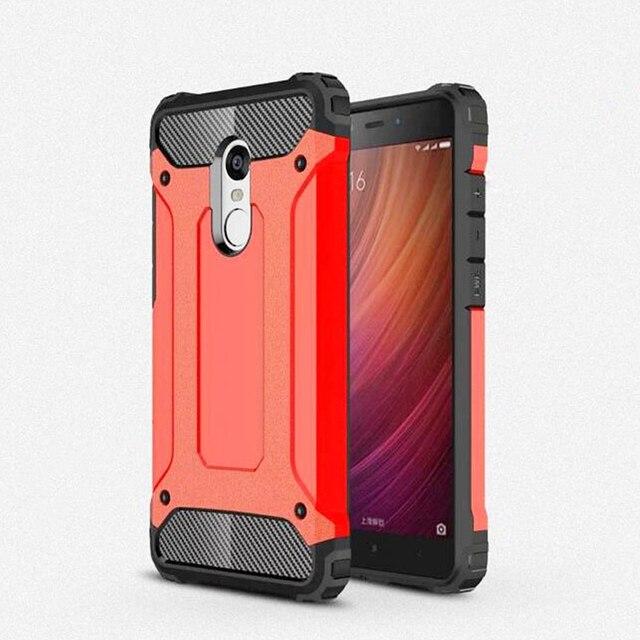 low priced 1fec0 81e83 US $4.08 20% OFF Xiaomi redmi note 4 Cover Hybrid Armor Protector Xiaomi  redmi note 4 case Luxury back cover cases xiaomi redmi note 4 pro prime-in  ...