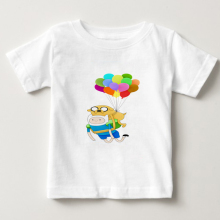 Finn and Jake Adventure Time  summer Casual t-shirts kids Short Sleeve T shirt boy/girl T-shirt t baby white tee
